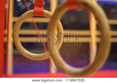 Gymnastic equipment in a gymnastic club in the Faroe Islands