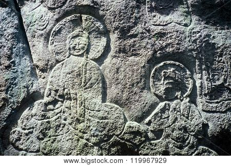 Ancient Bas-Relief Buddhist Sculpture