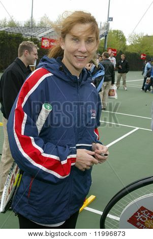 NEW YORK - MAY 7: Former Tennis star Monica Seles attends the USTA Tennis Block Party at Arthur Ashe Tennis Stadium on May 7, 2005 in Flushing, New York.