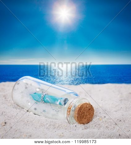 Message In A Bottles, Beach, Sun