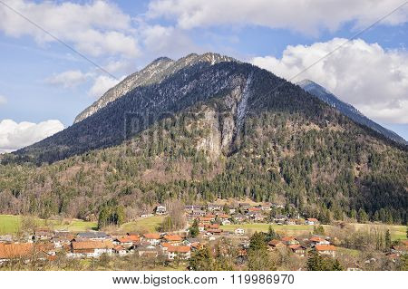 View To Mountains In Bavaria Alps