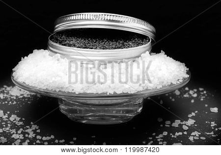 Tin Of Caviar On Ice