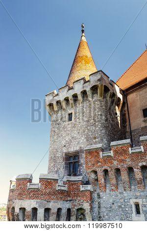 Famous Corvin Castle In Hunedoara, Romania