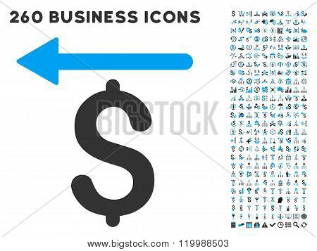 Moneyback Icon with Flat Vector Set