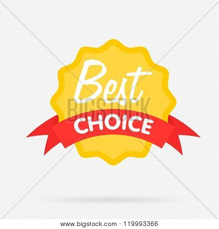 Best choice blank badge, vector illustration. Web sticker. Best choice sign. Special offer icon. Template badge. Badge isolated. Best choice icon. Special offer badge. Retail badge. Best choice badge. Cute badge. Best choice stamp. Design of ad offer.