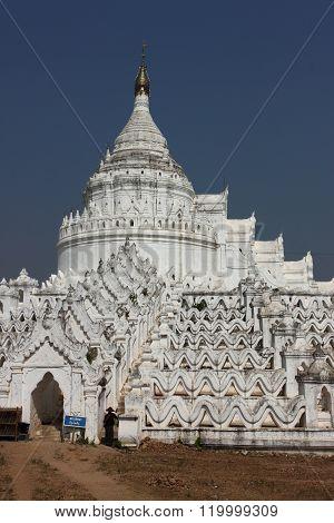 Hsinbyume (Myatheindan) paya temple, Mingun, Mandalay Myanmar