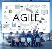 Agile Nimble Quick Innovation Reassessment Tech Concept poster