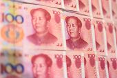 Chinese money. Chinese official currency, yuan or renminbi. poster