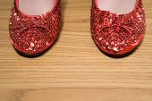 Red sparkly shoes poster