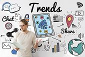 Trends Trend Trending Trendy Fashion Style Design Concept poster
