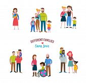 gay family, different kind of families, special needs children, blended coulpe  poster