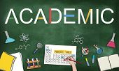 Academic Studying Chemistry Graphic Concept poster