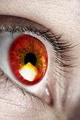 Bright red eye poster