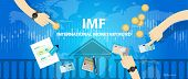 IMF International monetary fund vector concept illustration poster