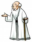 Old wise man Editable .Eps 10 Vector Illustration Design poster