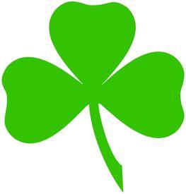 Green Irish Shamrock