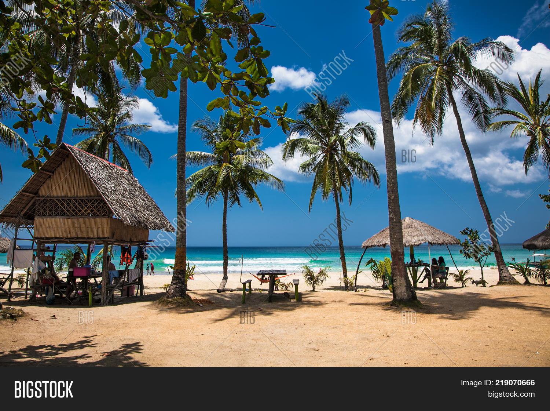 Sabang Beach Puerto Image Photo
