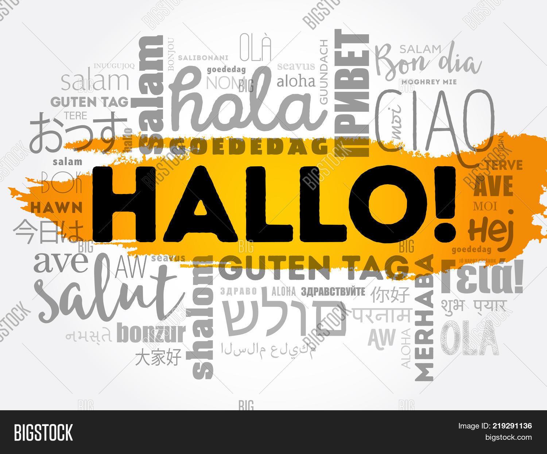 Hallo Hello Greeting Image Photo Free Trial Bigstock