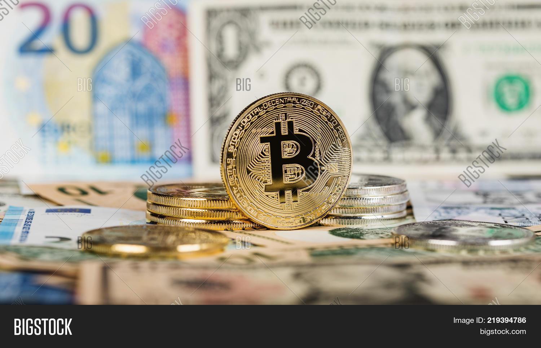 Bitcoin Virtual Image Photo Free Trial Stock