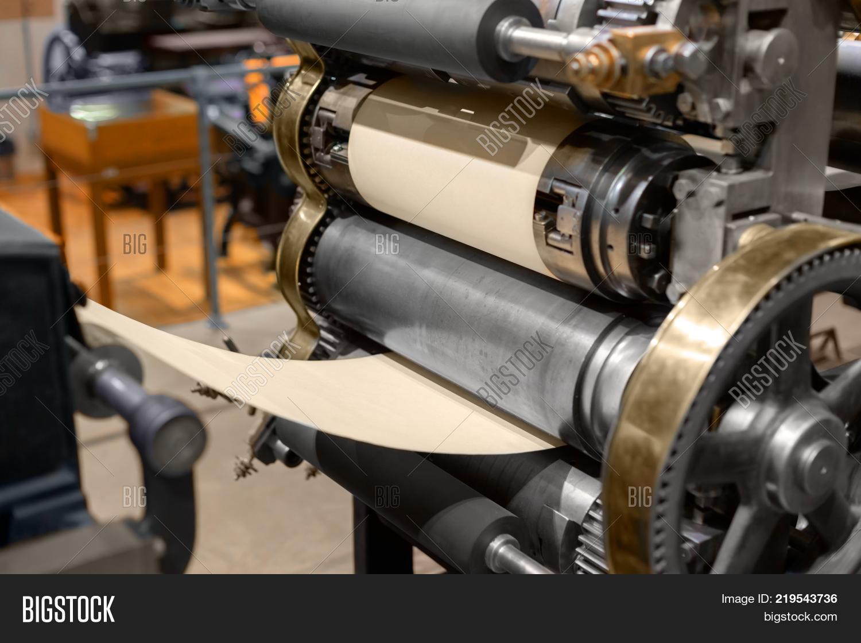 Old Fashioned Press Image & Photo (Free Trial)   Bigstock