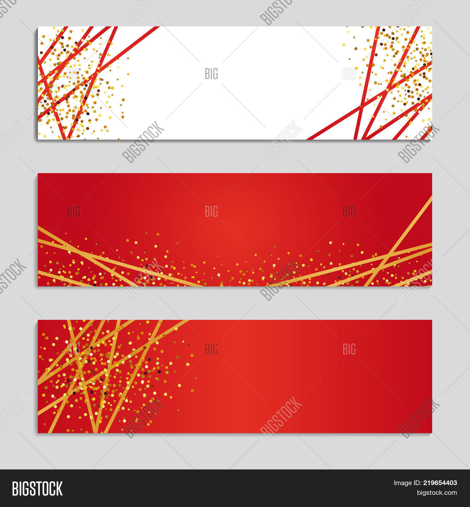 Gold Line Red Banners Image & Photo (Free Trial) | Bigstock