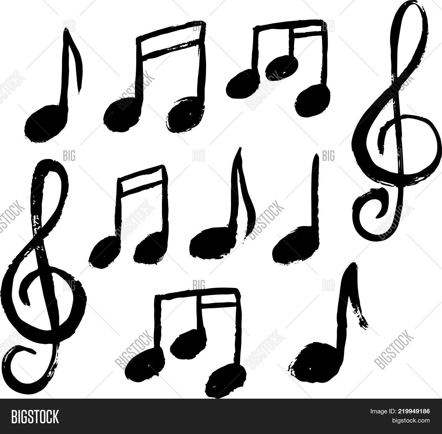 Set Music Notes Icon Vector Photo Free Trial Bigstock