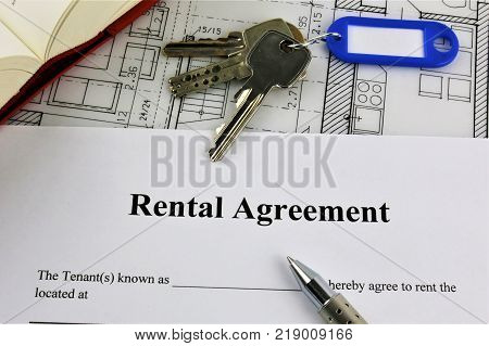 An concept Image of a rental agreement