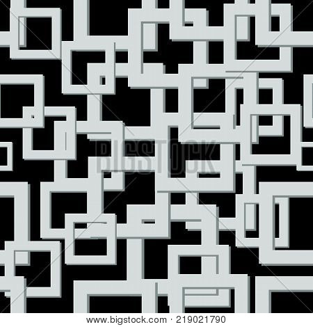 Vector seamless texture. Abstract geometric pattern. Modern mosaic background.