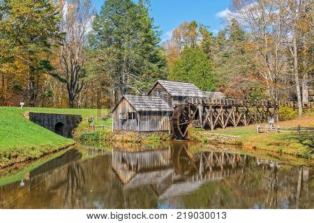 Mabry Mill Is Along The Blue Ridge Parkway In Virginia