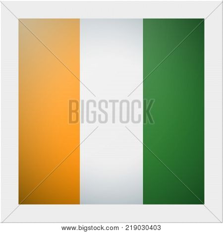 African country flag collection with photo of Ivory Coast flag , vector , illustration