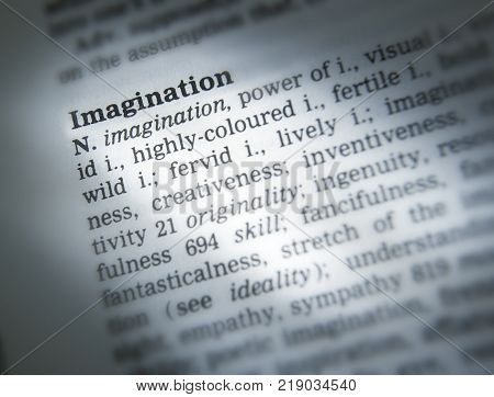 CLECKHEATON, WEST YORKSHIRE, UK: THESAURUS PAGE SHOWING DEFINITION OF WORD IMAGINATION, 30TH MARCH 2005, CLECKHEATON, WEST YORKSHIRE, UK