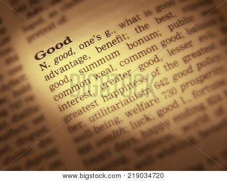 Cleckheaton, West Yorkshire, Uk: Thesaurus Page Showing Definition Of Word Good, 30th March 2005, Cl