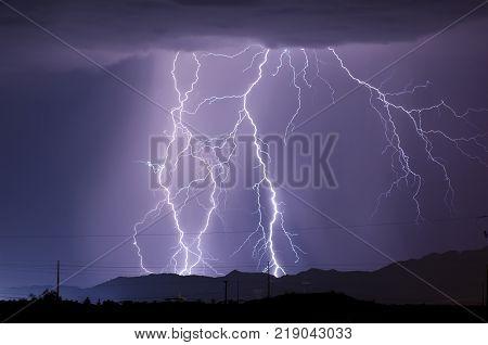 A late night Lightning storm during the 2010 Arizona Monsoon season.