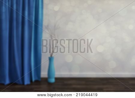 Blur abstract livingroom decoration interior for background. 3d rendering