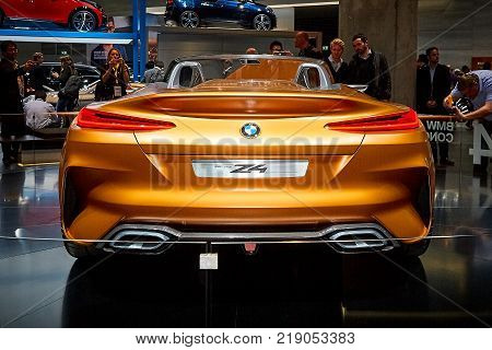 Frankfurt, Germany - September 12, 2017:  2017 BMW Z4 Concept presented on the 67-th Frankfurt International Motor Show(IAA) in the Messe Frankfurt