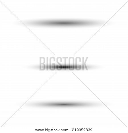 Oval shadow for tab dividers isolated on white vector set for your web design