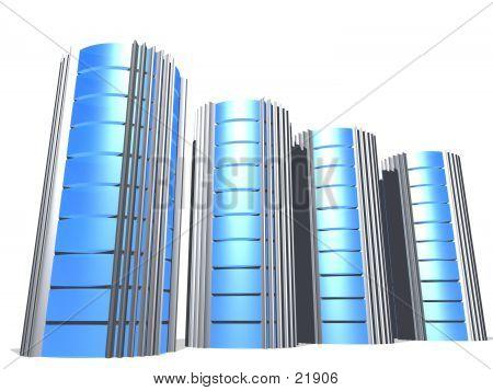 3d Servers In Blue