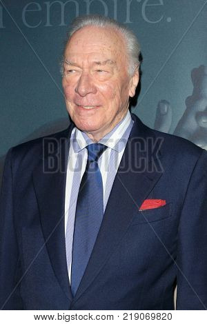 LOS ANGELES - DEC 18:  Christopher Plummer at the