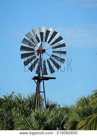 SANIBEL, FLORIDA - DECEMBER 05: Windmill at Bailey Homestead Preserve Sanibel Captiva Conservation Center Florida 2016