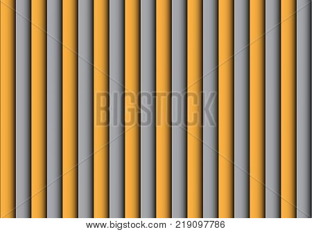 Abstract yellow gray shutter pattern background vector illustration.