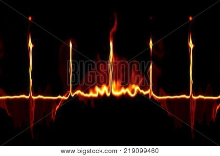 An illustration of a strange fire line background texture