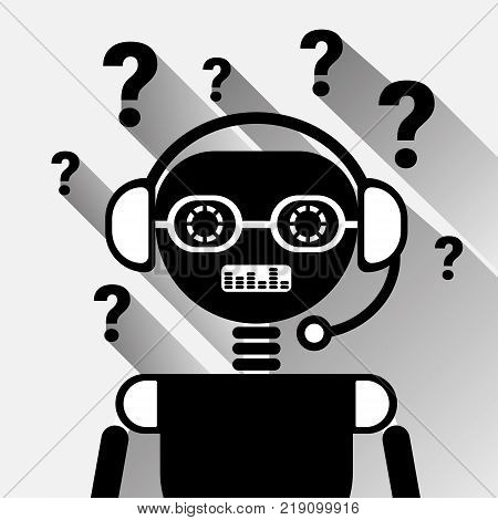 Chatbot With Question Mark Icon Concept Black Chat Bot Or Chatterbot Service Of Online Support Technology Vector Illustration