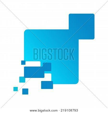 Technology Networking Box Fragment Logo Vector Illustration Graphic Design