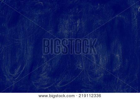 dark blue background chalkboard texture - graphic background. Empty template.