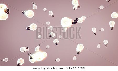 White Light Bulbs In Air