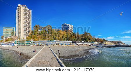SOCHI, RUSSIA - November 21, Embankment of the
