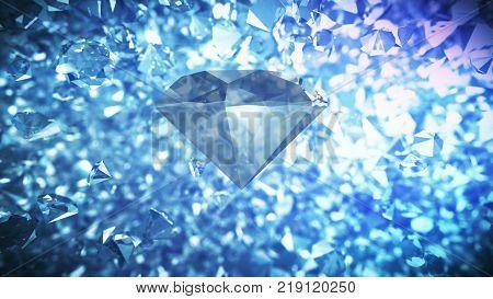 Heap Of Dazzling Diamonds