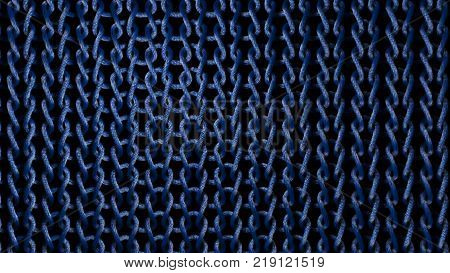 Interlaced Blue Material Strands
