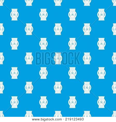 Valve pattern repeat seamless in blue color for any design. Vector geometric illustration