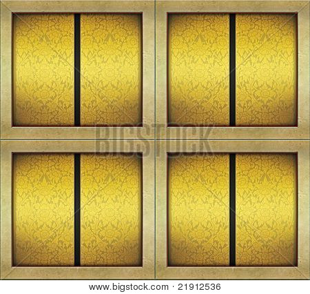 gold-like wall texture thai style design